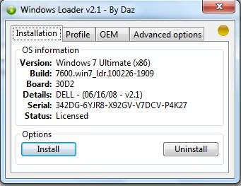 Универсальные активаторы windows 7